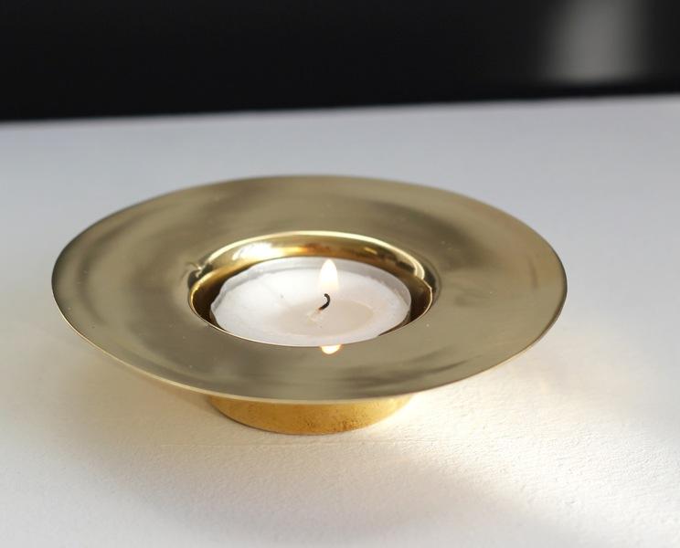Brass Trumpet Tea Light Holder