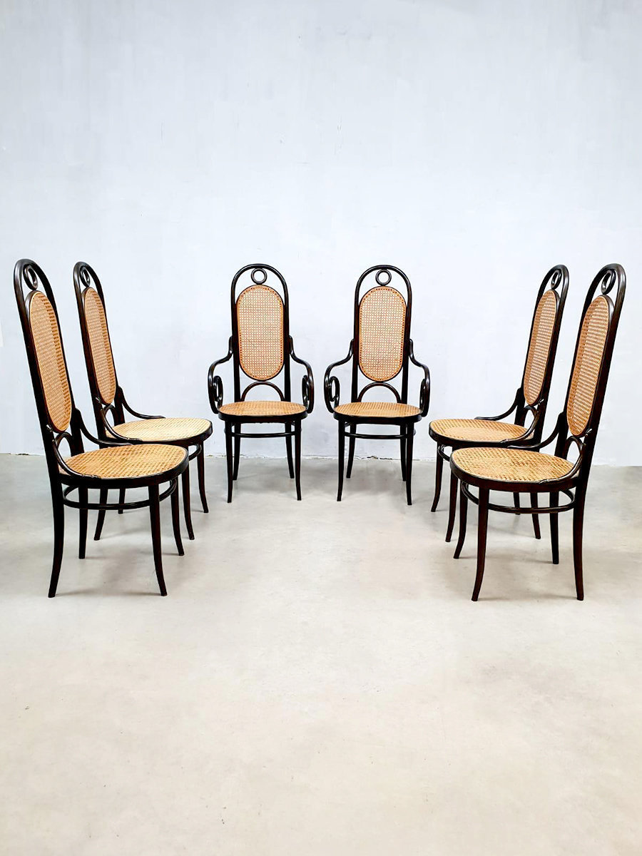 6 Design Eetkamerstoelen.Set Of 6 Vintage Design Eetkamerstoelen Dining Chair Thonet