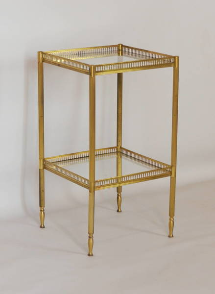 French Brass And Glass Side Table photo 1