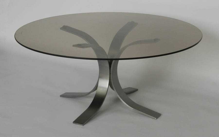 French Smoked Glass Coffee Table photo 1