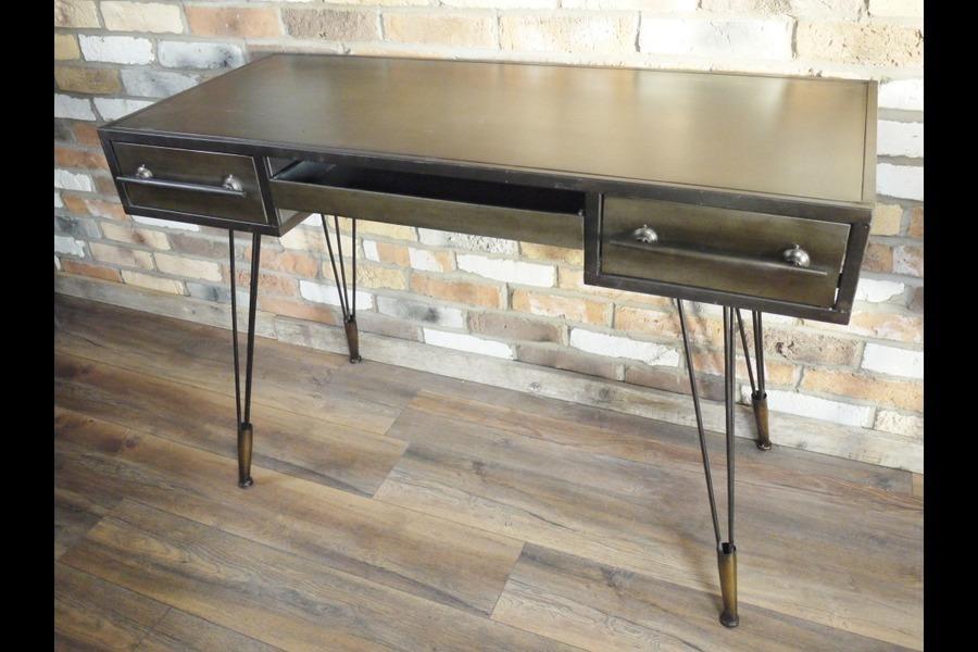 Industrial Metal Computer Desk With Drawers Sideboard