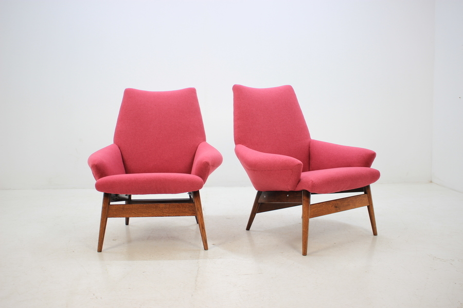 1950 Miroslav Navratil Lounge Chair, Set Of 2