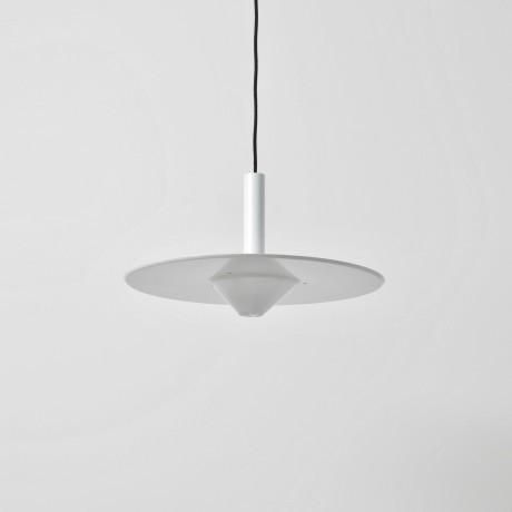 1950s Danish Enamel Lamp