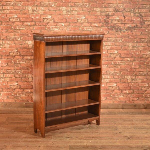 Late Victorian, Walnut, Open Book Shelf, C.1900 photo 1