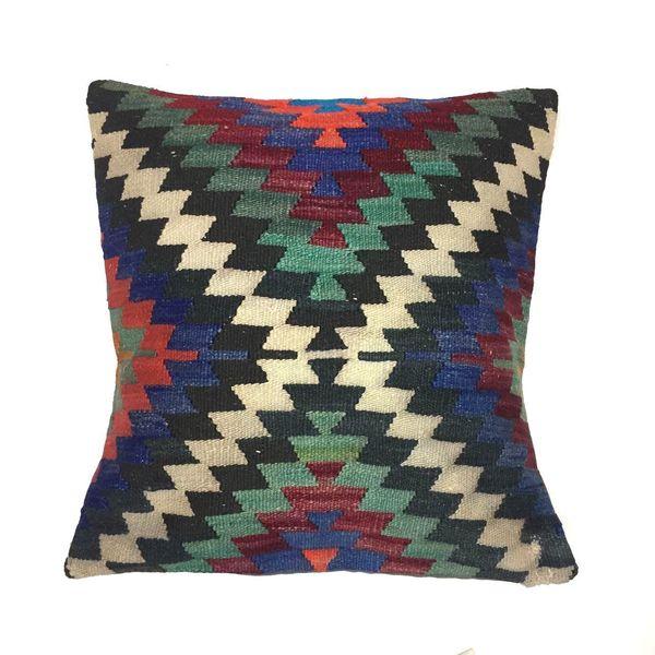 Turkish Moroccan Kilim Cushion Cover, Kelim Pillow