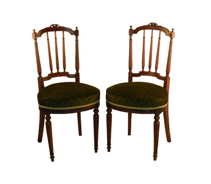 Pair Of French Antique Side Chairs