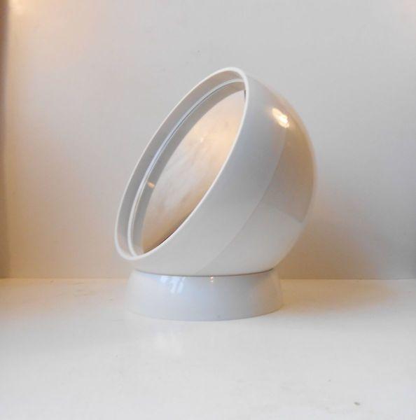 Spherical Danish Space Age Acrylic Table Mirror, 1970s