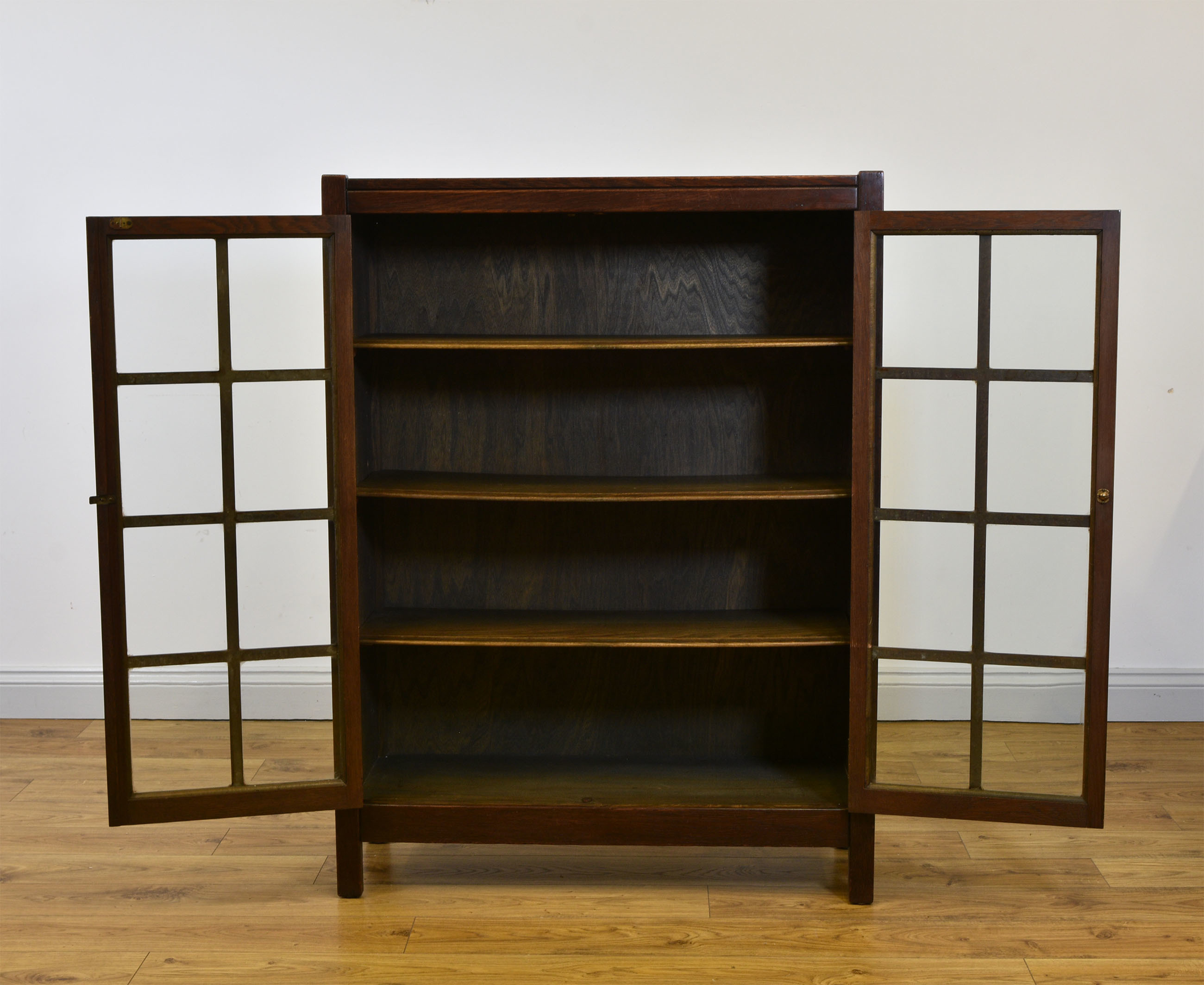 Arts Crafts American Mission Bookcase Antique Circa 1910 Free Delivery To Mainland England Wales
