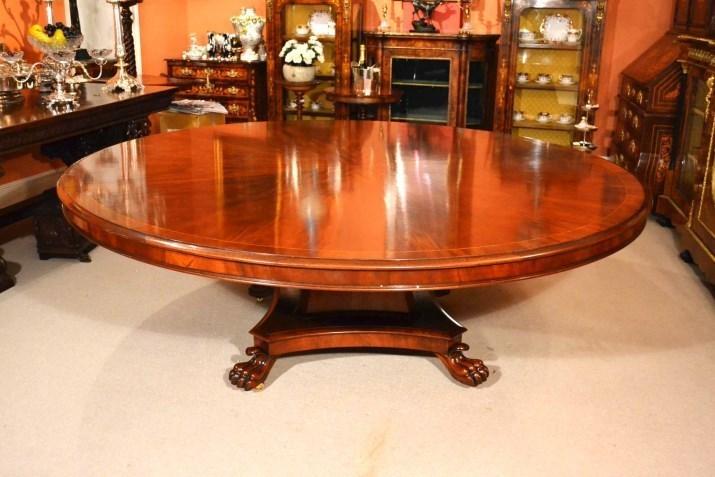 Vintage Regency Dining Table 7ft Round Mahogany photo 1
