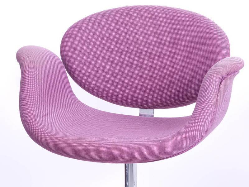 Pair Of Purple Pierre Paulin Bar Stools For Artifort