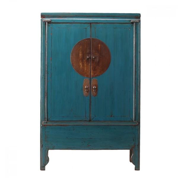 Dark Blue Antique Wedding Cabinet C.1900