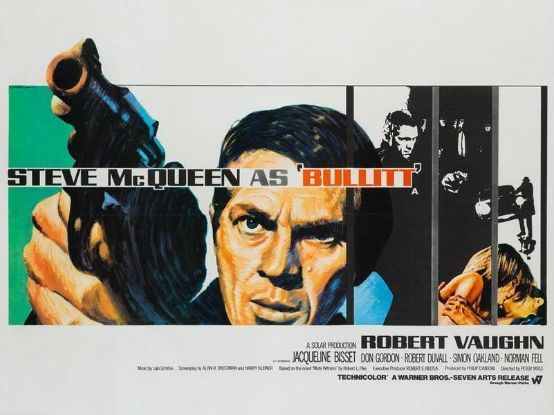 Bullitt Film / Movie Poster Original Vintage 1968 Uk Mc Queen ...