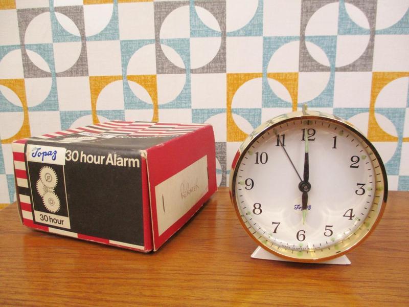 Vintage 1950's Alarm Clock By Topaz, For Prop Or Display.