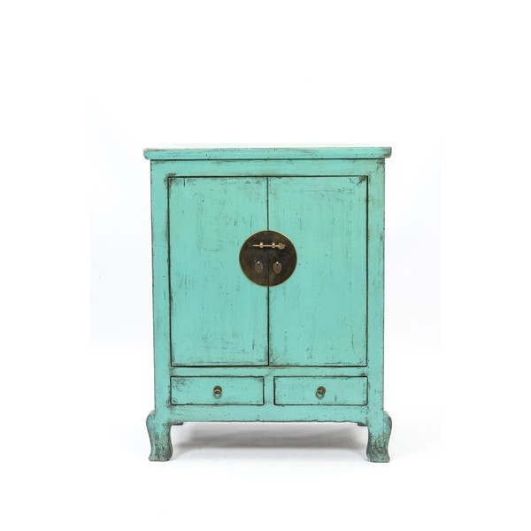 Bright Blue Lacquered Cabinet