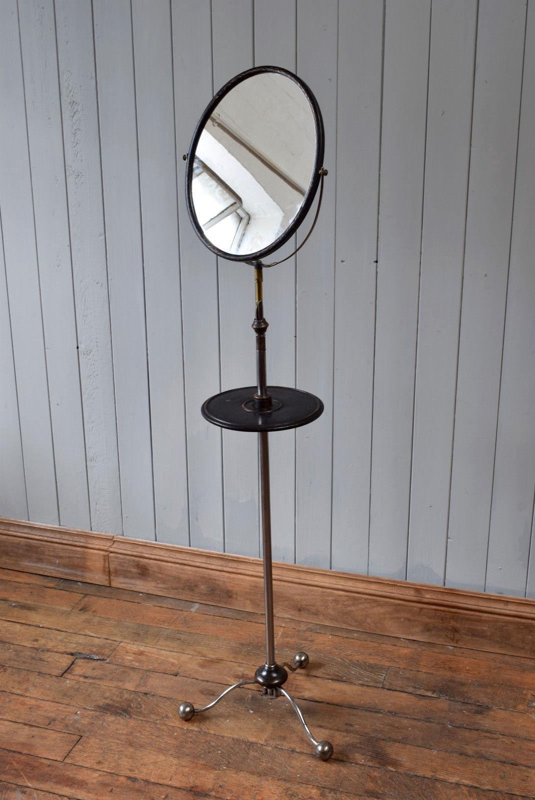 Antique Gentleman S Shaving Vanity Free Standing Mirror Vinterior
