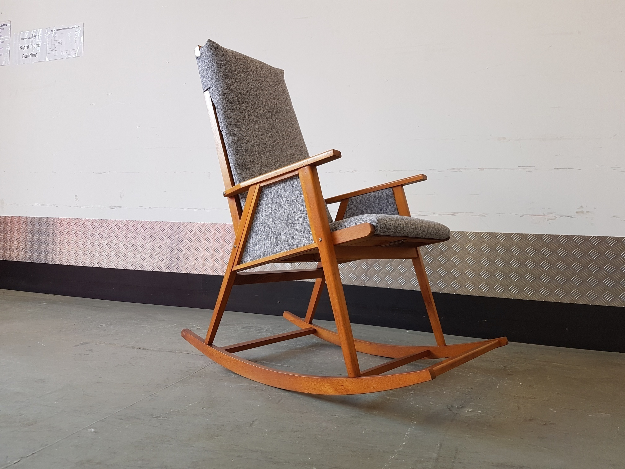 Superb Rocking Chair Mid Century Modern Beatyapartments Chair Design Images Beatyapartmentscom