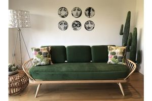 Thumb ercol blonde studio couch daybed fully professionally refurbished ercol ercol 0