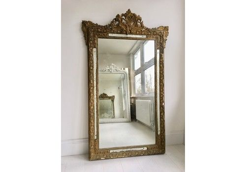 9a6c4f5d5182 Large Antique French Gilt Mirror
