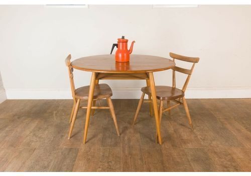 5ff19505e8438 Vintage Retro Ercol Breakfast Table And 2 Adult Stacking .