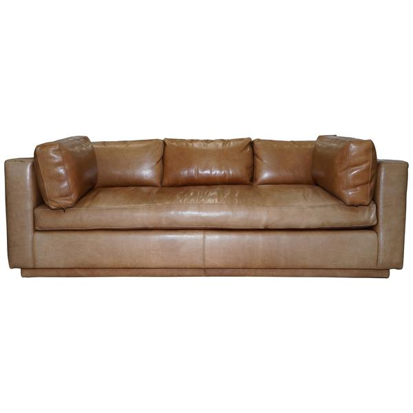 Phenomenal Huge Ralph Lauren Three Four Seater Brown Leather Feather Sofa Uwap Interior Chair Design Uwaporg