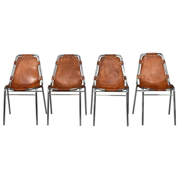Les Arcs Chairs By Charlotte Perriand, 1960s, Set Of 4