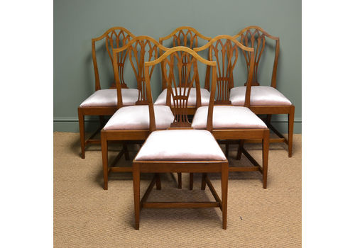Home, Furniture & Diy Set 6 Edwardian Antique Solid Carved Mahogany Upholstered Dining Kitchen Chairs Quality First