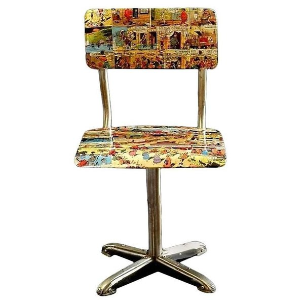 Peachy Midcentury Bentwood Childs Chair 1950S Comic Decoupage Lucky Luke Download Free Architecture Designs Scobabritishbridgeorg