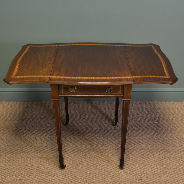 purchase cheap 0ca13 242a6 Stunning Quality Edwardian Mahogany Antique Drop Leaf Side Table