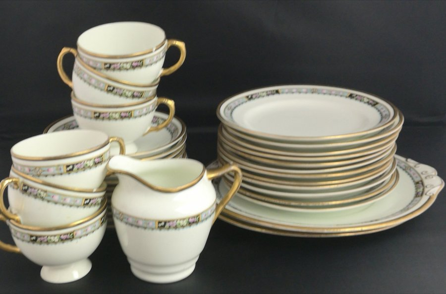 Antique Tea Set Edwardian China Cups Saucers Plates Blyth Photo 1