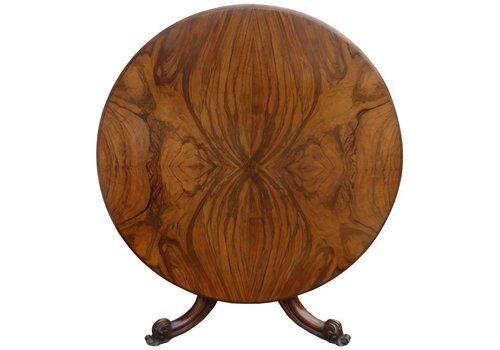 4479c292041e 19th Century Figured Walnut Round Dining Table