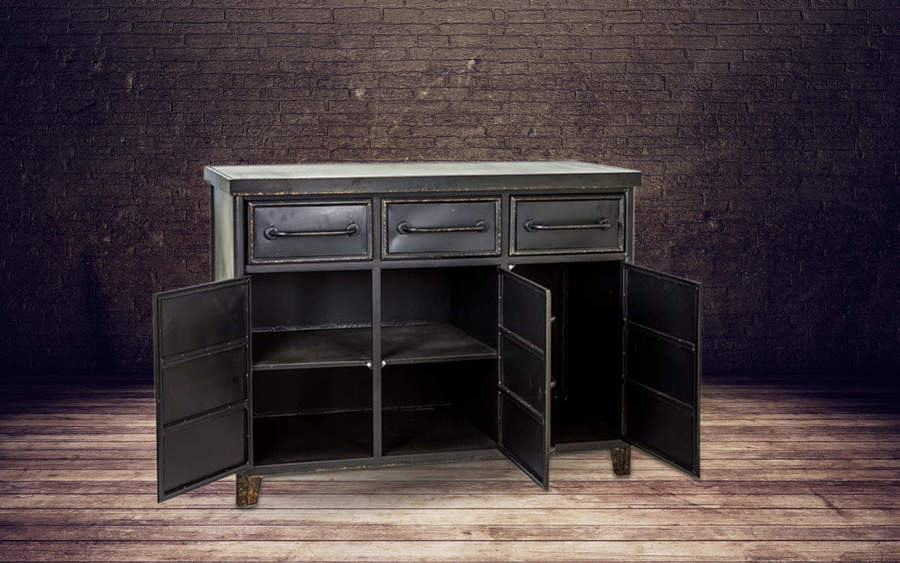 Large Metal Industrial Cabinet Sideboard Free Delivery