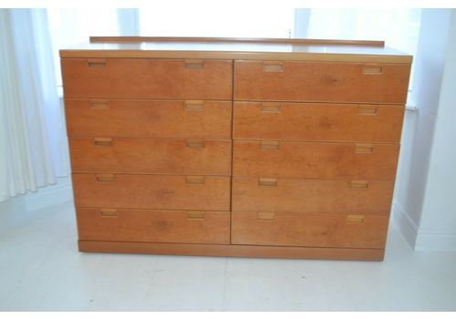 Stunning Vintage White Newton Teak Multi Chest Of Drawe
