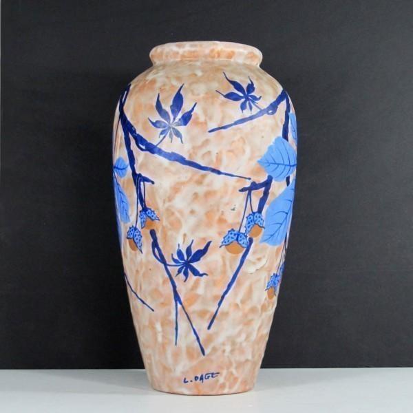 Art Deco Vase By Louis Dage photo 1
