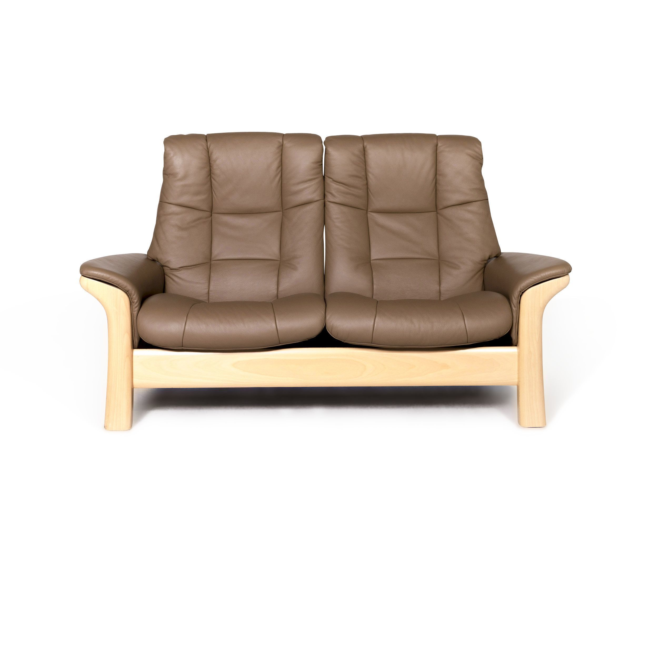 Leather Sofa Beige Real