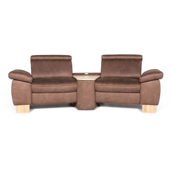 Vito Tonga Designer Fabric Sofa Brown Two Seater Couch Function #8934 photo 1