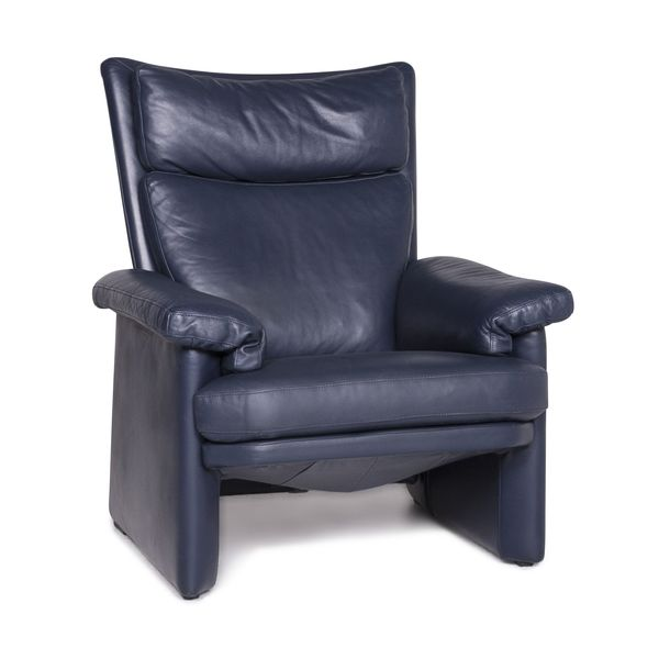 Rolf Benz Designer Leather Armchair Blue Function #8941 photo 1