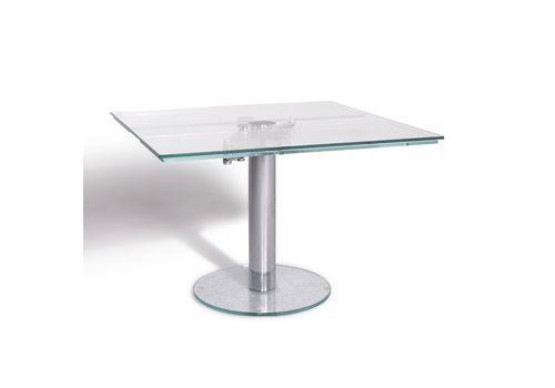 9c2bc83c37ff Draenert Titan Iii Designer Dining Table Silver Glass Geo.