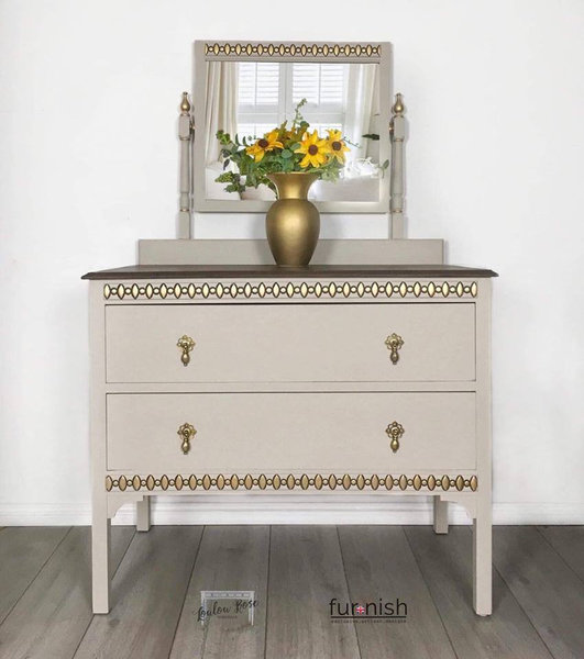 Vintage Oak Dressing Table Chest Of Drawers Hall Console Photo 1