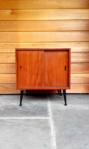 1950s Record Cabinet On Tiny Dansette Legs photo 1