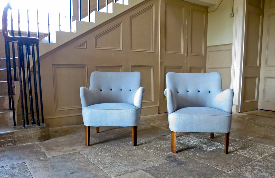 Orla Mølgaard Nielsen For Fritz Hansen Pair Of Armchairs