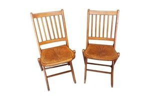 Thumb pair of early 20th century thonet style folding chairs 0