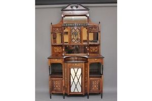 Thumb 19th century rosewood and inlaid cabinet 0