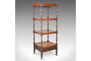 Thumb antique whatnot english mahogany four tier regency display stand c 1820 0