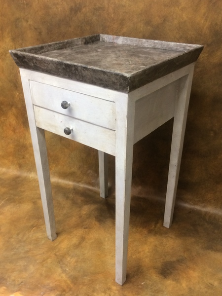 Swell Bedside Tray Side Table Professionally Painted Marbled And Lightly Distressed Download Free Architecture Designs Itiscsunscenecom