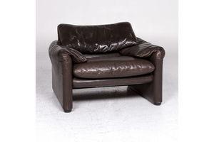 Thumb cassina maralunga designer leather armchair brown 9279 0