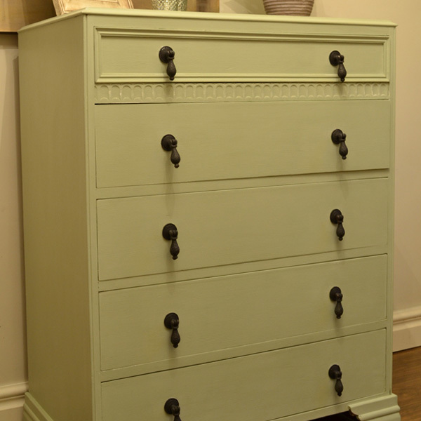 Upcycled Hand Painted Chest Of Drawers