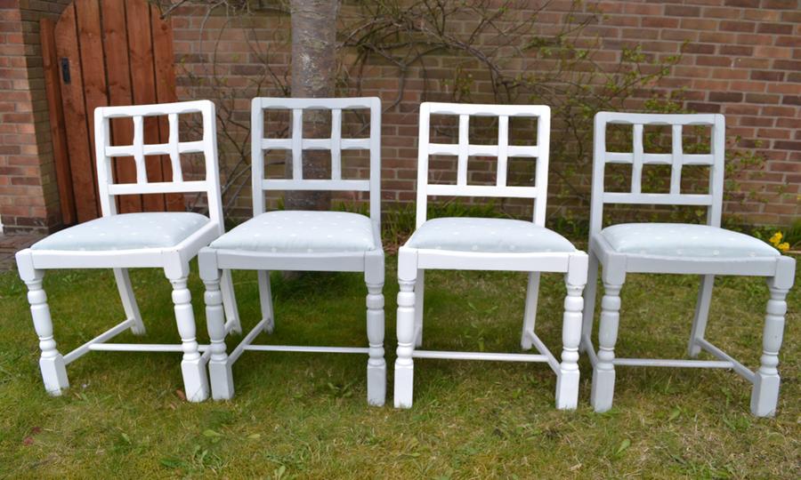 Oak Farmhouse Chairs Set Of 4