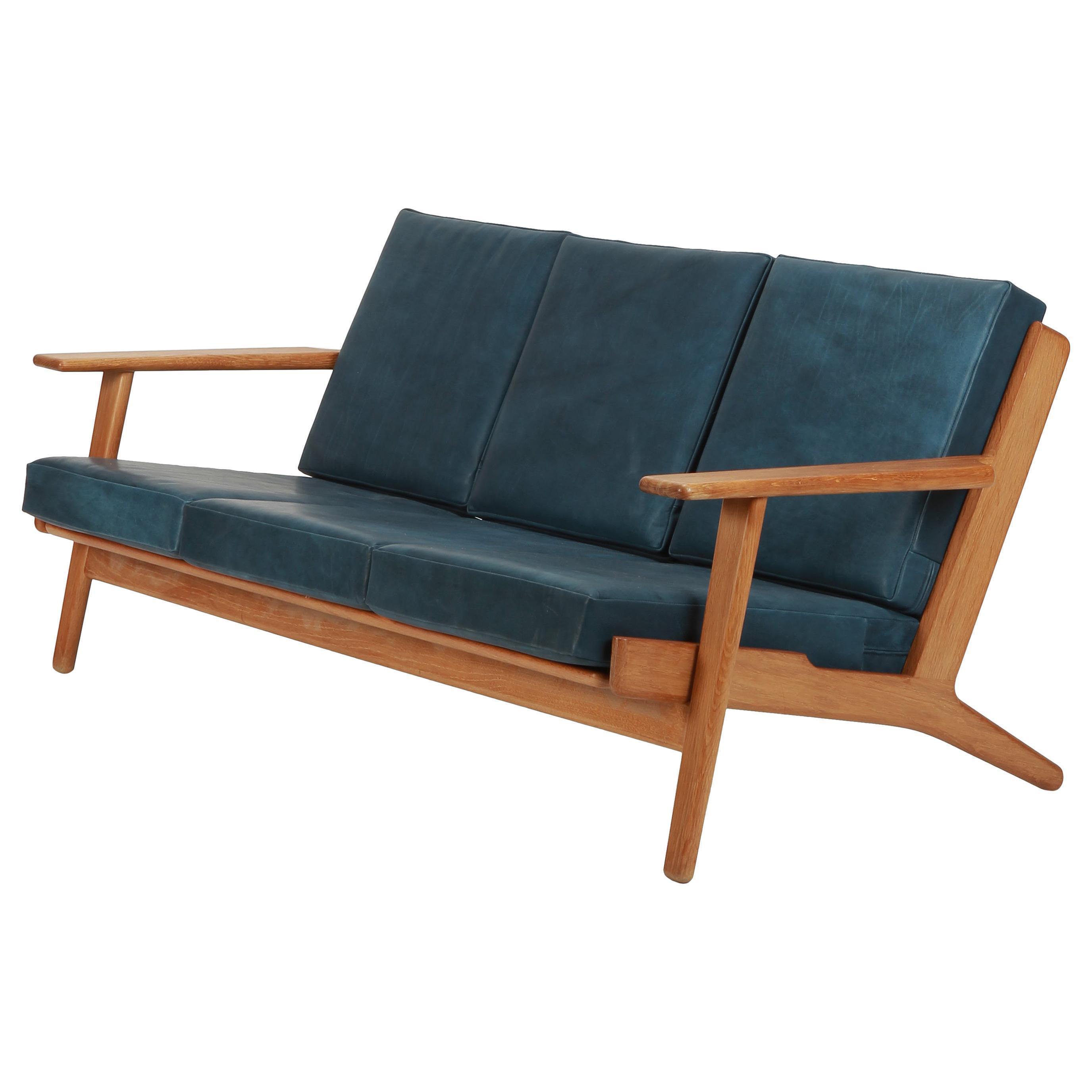 Hans Wegner Sofa Ge 290 Oak 1950s