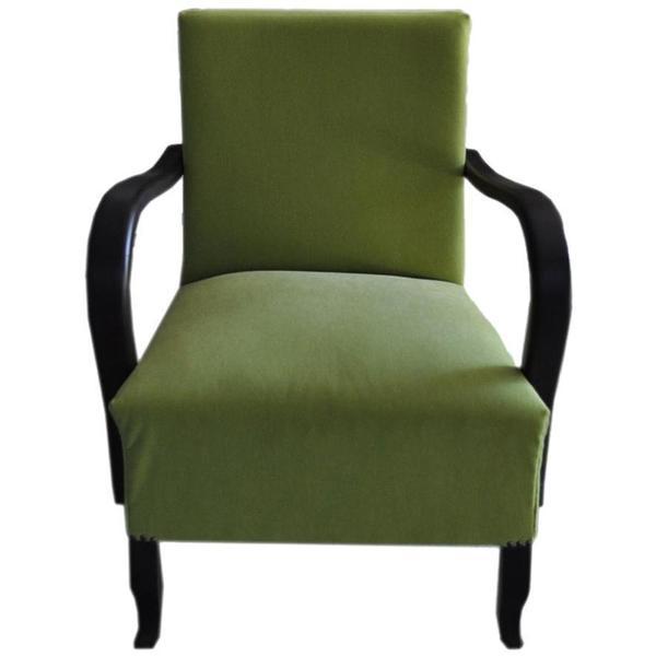 Art Deco Green, Armchair, Circa 1920s