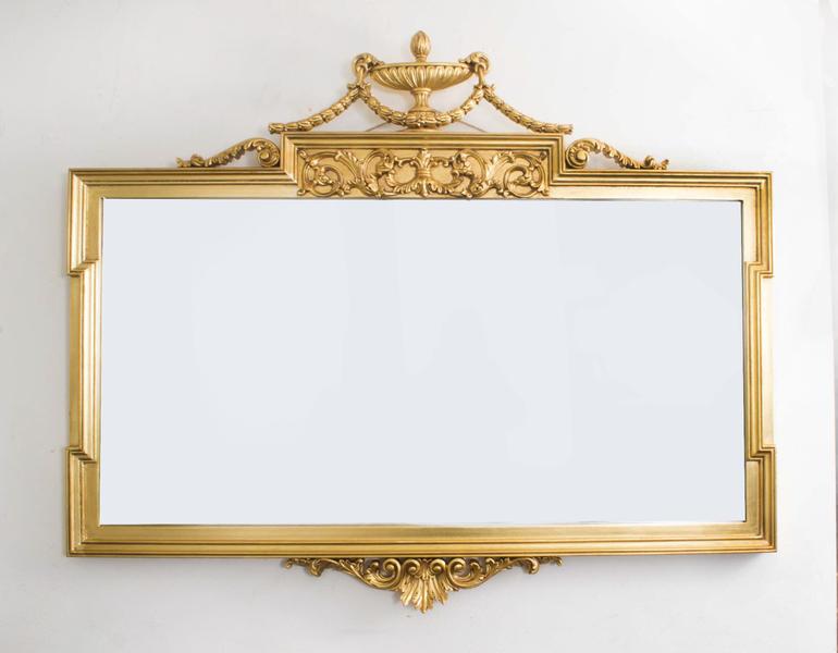 Stunning Large Ornate Swedish Neo Classical Mirror